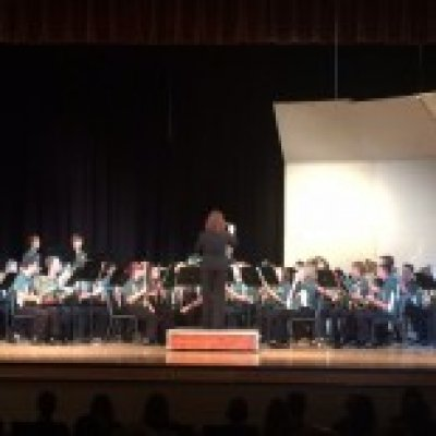 Symphonic band with Conductor