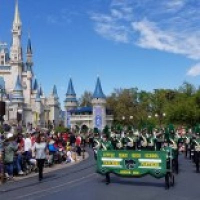 Band Marching in Parade at Disney